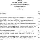 Тарифы на услуги ЖКХ в Москве с 1 января 2021