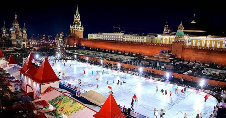 Ледовая площадка у Кремля